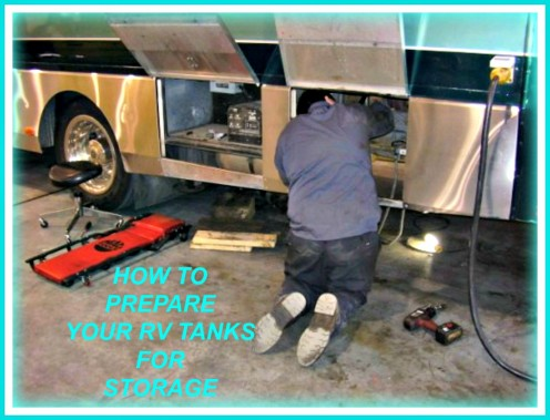 It's important to properly prep your RV's tanks before putting your coach in storage.