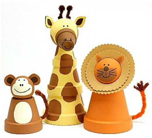 Clay Pot Zoo Animals