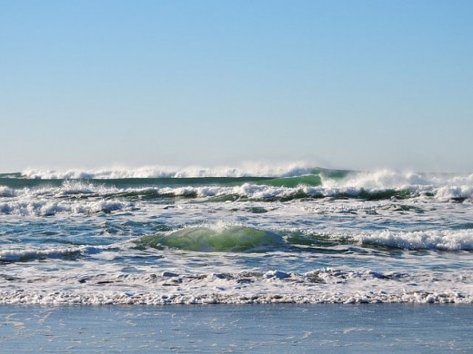 Enjoy the sun and surf at the beach. These are but two of many beach delights for all to enjoy.