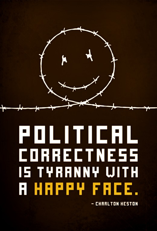 Political Correctness, taken to the extremes of today is only a force of oppression and the suppression of the American value of free speech. It serves no purpose other than giving grounds to prosecute people based on what others think is offensive.