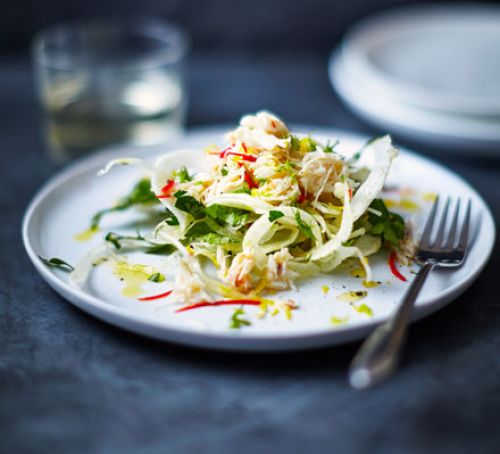 Crab with Fennel & Parsley Salad