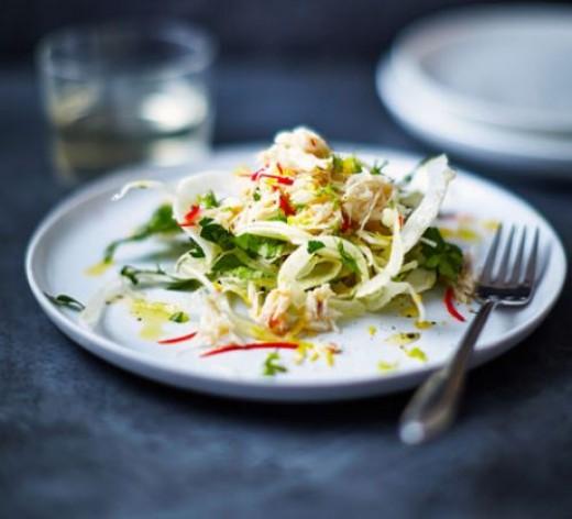 Crab with Fennel & Parsley Salad