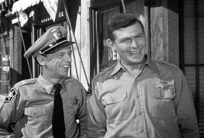 Don Knotts, left, and Andy Griffith will always be remembered as TV's funniest duo