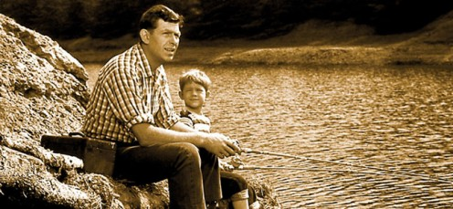 Andy and Opie would many times go fishing and Opie would learn yet another bit of wisdom from his pa, Andy Taylor