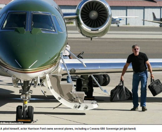 The 72-year-old actor has long been active in aviation. As a qualified pilot, Ford owns a total of eight planes...
