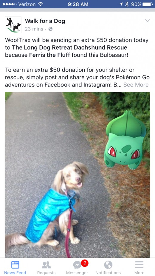 I love that people can raise money for charities just by walking and catching Pokemon.