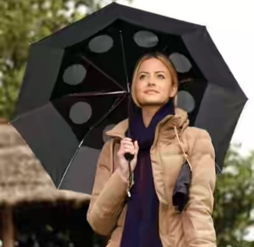 Wind proof, stay dry, compact folding umbrella