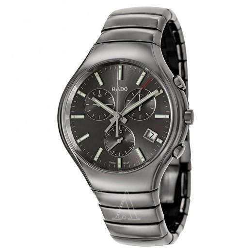 Rado, Rado True Chronograph, Men's Watch, Ceramic with Plasma Treatment Case, Ceramic with Plasma Treatment Bracelet, Swiss Quartz (Battery-Powered), R27896102