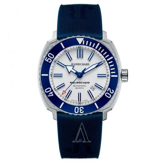 JeanRichard, Aquascope, Men's Watch, Stainless Steel Case, Rubber Strap, Swiss Mechanical Automatic (Self-Winding), 60400-11D705-FK4A