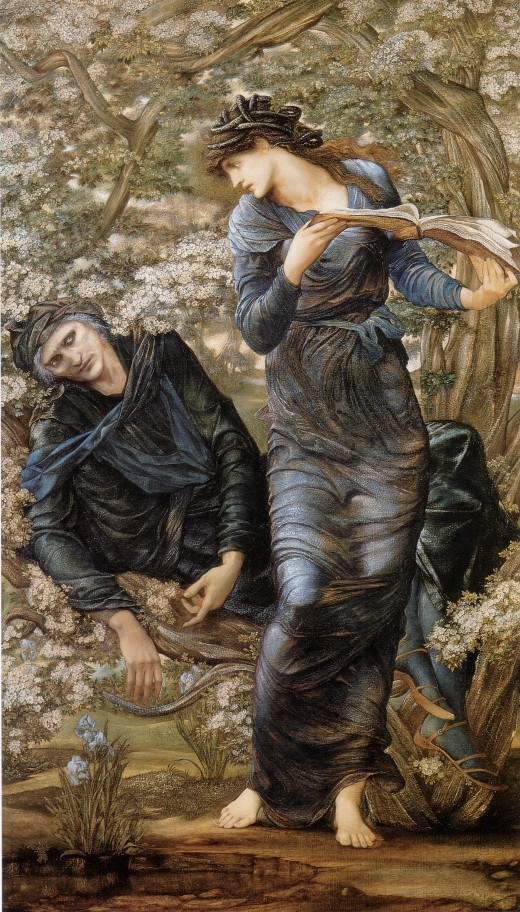"""Beguiling of Merlin"" by Burne Jones 1470"