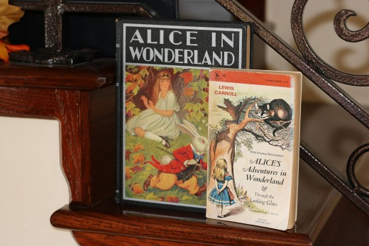 """Alice in Wonderland"" books can be part of the decor."