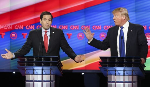 During this debate earlier in the year, Rubio called Trump a con-artist and they had a spat in front of millions on National TV.