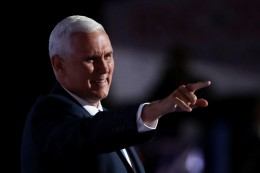 Gov Of Indiana Mike Pence accepts the nomination as the VP candidate for Donald Trump
