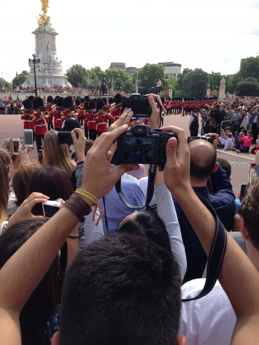 Changing of the Guard.  It's clear that everyone was dying for their own personal photograph.