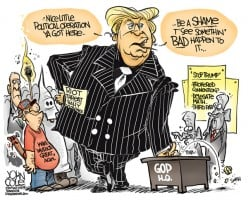 My Top 10 Picks for Political Cartoons Depicting Donald Trump's 2016 Republican National Convention