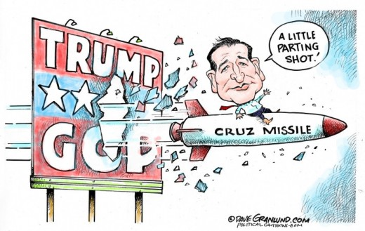 Senator Ted Cruz made an impressive speech urging voters to vote with their conscience and not on party lines. He became the most epic party crasher in history; walking right into Trump's party and refused to endorse Donald Trump.