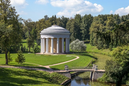 Temple of friendship in Pavlovsk park.