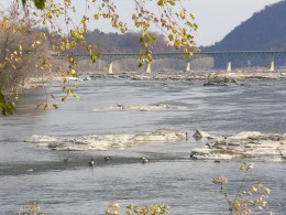 The Potomac River at Harpers Ferry.