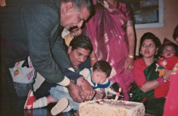 This one is too precious. You and Pita ji (grandpa) are both helping me to cut the cake on my first birthday.