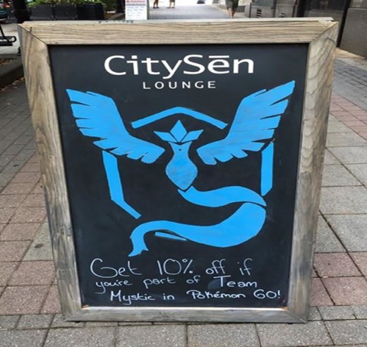 Citysen PokeGym discount offer.