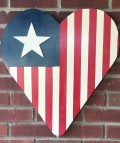 Make an American Flag for your Door