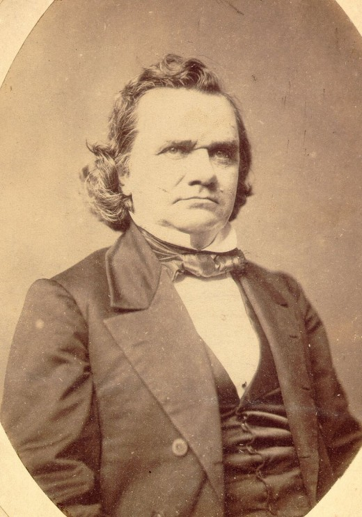 Democratic nominee for President, 1860.  After winning against Lincoln in 1858, Lincoln beat the Little Giant 2 years later.