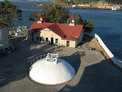 The cistern and fog horn station at EBLS