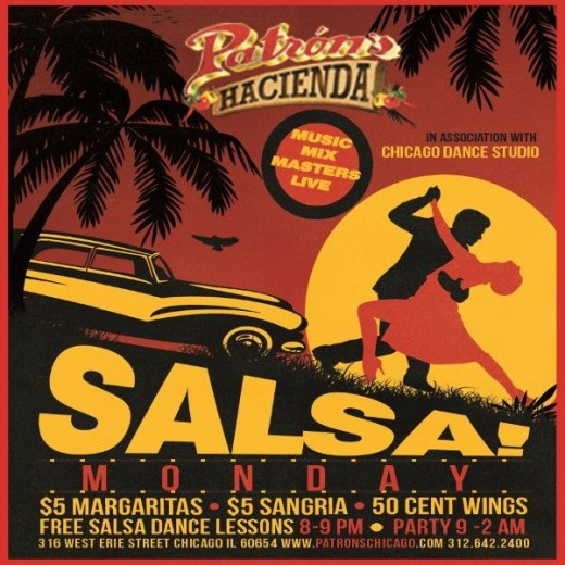 Salsa Monday at Patron's Hacienda with Chicago Dance