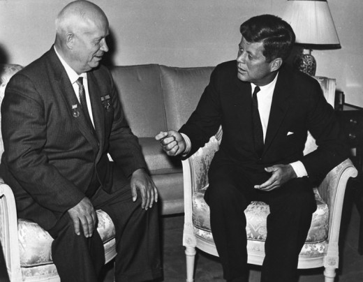 Khrushchev and Kennedy.