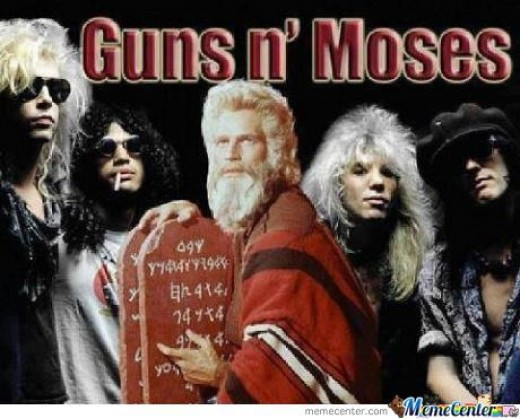 See?! GNR is so big Moses is even a fan!