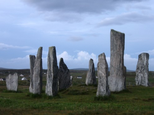 Standing stones of Callanish on the Isle of Lewis which are over 4000 years old.