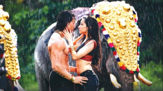 Tiger and Shraddha in a song sequence with Kerala's elephants in the backdrop.