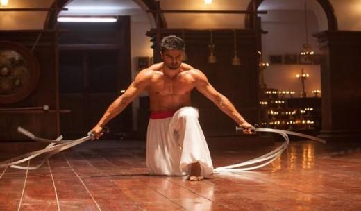 Sudheer Babu playing the Villain, seen here practising Kalaripattayu.