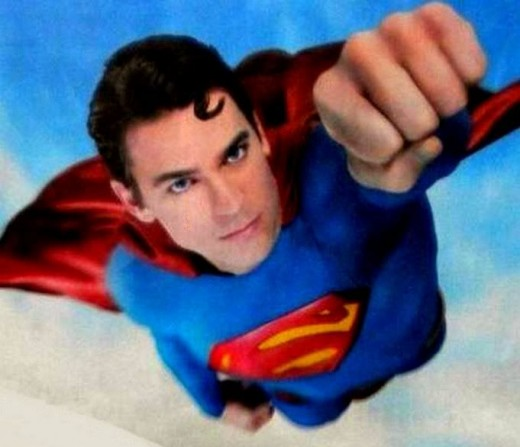 Matt Bomer as Superman in the Japanese Toyota Prius Commercial.