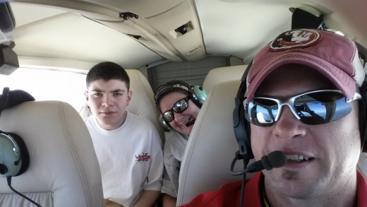 Alex Flying for Medical Treatment with Captain Mike on Angel Flight South East.