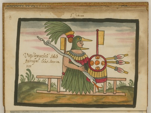 Huitzilopochtli, the Principal Aztec God By Pyccknn Public Domain