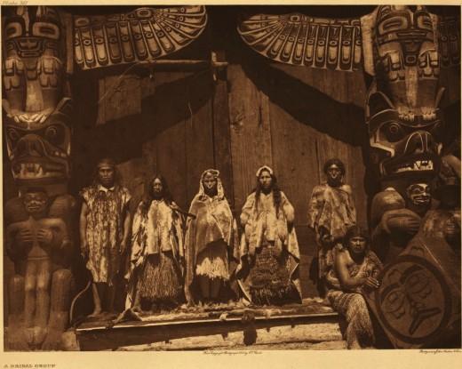 Kwakiutl people of the Pacific Northwest.