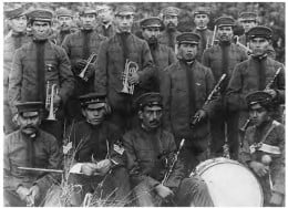 Haida brass band in 1906.