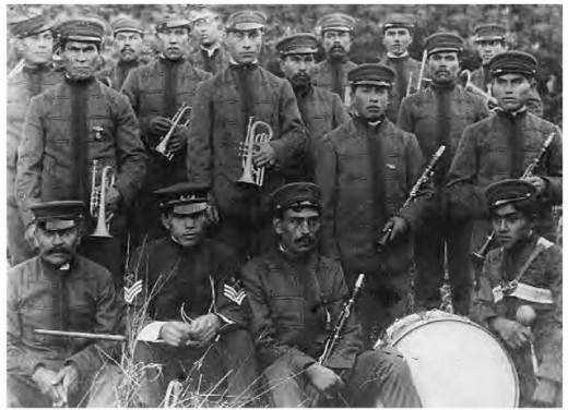 Haida brass band in 1906.