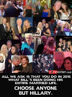 Anyone actually watch Bill Clinton  .........Barf barf