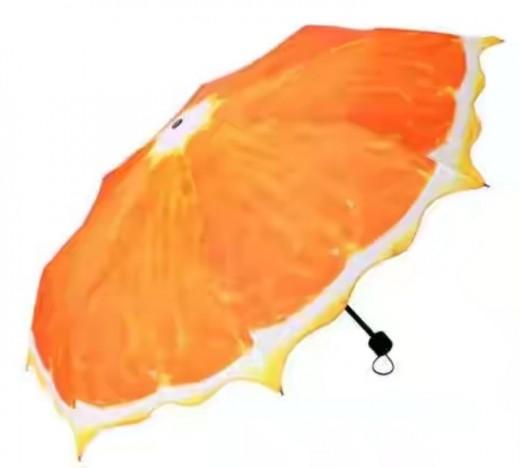 Artistic umbrella glorifying sun