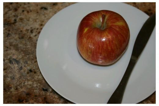 Apple On A Plate