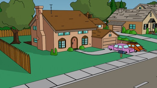 The Simpsons' home.
