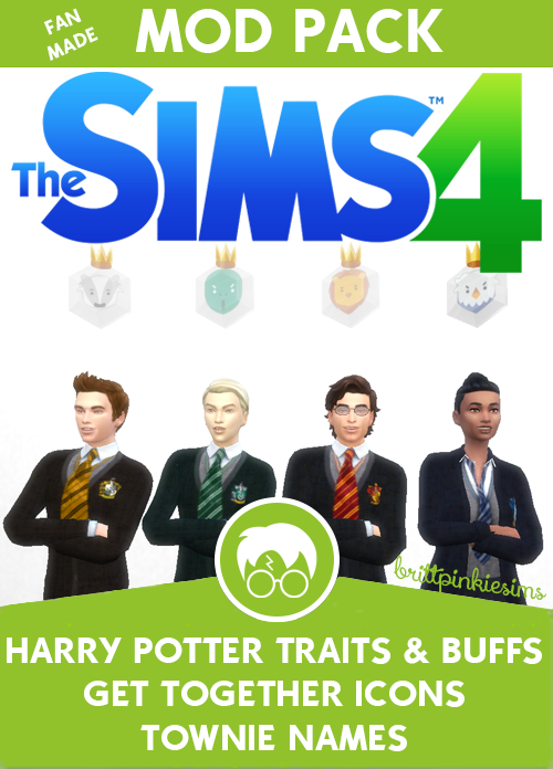 brittpinkiesims (my Sims 4 alter ego) created a mod pack for Harry Potter fans!