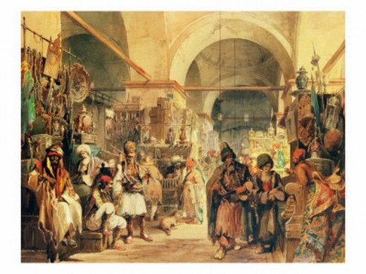 {{Information |Description={{Creator:Amedeo Preziosi}} A Turkish Bazaar |Source=http://www.artst.org/orientalism/preziosi/ |Date=19th century |Author=Amedeo Preziosi |Permission=Reproduction of a painting that is in the public domain because of its a