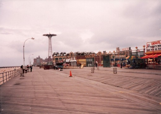 Coney Island Boardwalk, Brooklyn, NY, circa 1979.