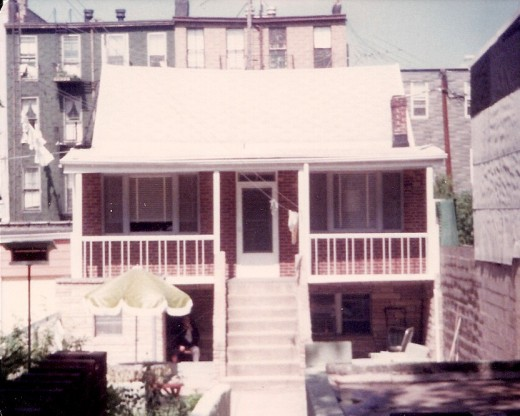 A house on 27th  Street in Brooklyn, NY, circa 1979.