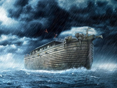 Noah's Ark in the Storm