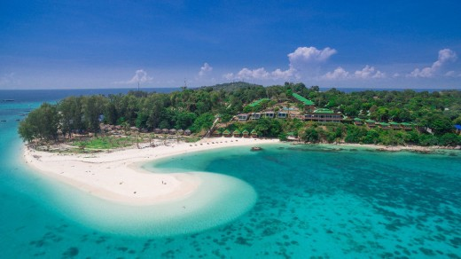 Koh Lipe island from the air