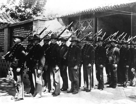 U.S. Marines in China, 1900.